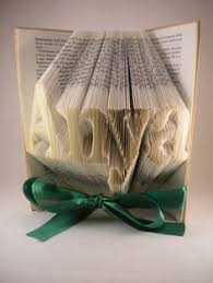 bible silhouette folded book art personalized anniversary gift