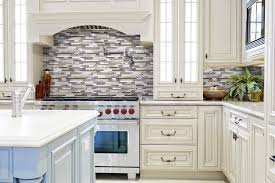 Sq Ft Bliss Cappucino Stone And Glass Linear Mosaic Tiles - Glass stone backsplash