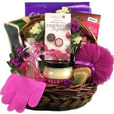 gift basket ideas for women sweet escape spa and chocolates basket