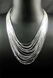 multi strand necklace images Silver waterfall multi strand necklace the fine gift company gif