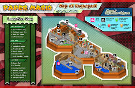 Paper Town Map Paper Mario Map Of Rogueport By Shadowlifeman On Deviantart