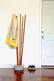 ana white build a modern concrete and broomstick coat tree