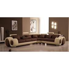 Sectional Sofa Sets Divani Casa 4087 Modern Leather Sectional Sofa