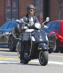 pictures of andrew garfield riding a vespa scooter popsugar