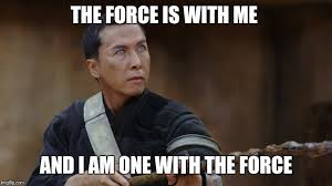 The Force Is Strong With This One Meme - the source of the force is with me and i am one with the force is
