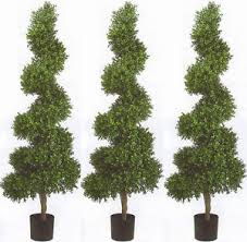 3 topiary artificial 6 outdoor wide spiral uv boxwood tree bush