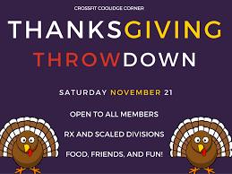 cfcc thanksgiving throwdown crossfit coolidge corner