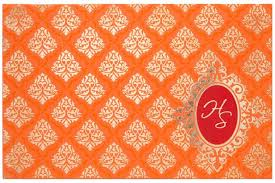indian wedding invitation online indian wedding invitation in orange color with water marked moti