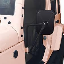 jeep wrangler door mirrors amazon com audew a pair shake proof rectangular adventure mirrors