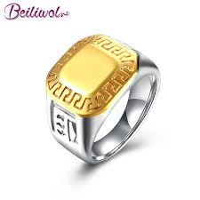 aliexpress buy 2017 new arrival mens ring fashion beiliwol wedding jewelry mens rings fashion stainless steel gold