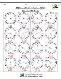 second grade time worksheets clock worksheets to 1 minute