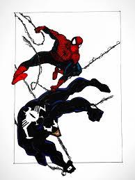 spider man and venom sketch marvel