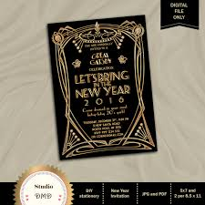 new year u0027s eve party invitation great gatsby party