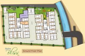 floor plan for gym skyline bliss in garia kolkata price location map floor plan