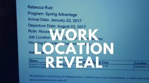 work location reveal disney college program sa 2017 youtube