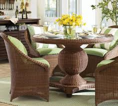 all weather dining table palmetto all weather wicker round pedestal dining table chair set