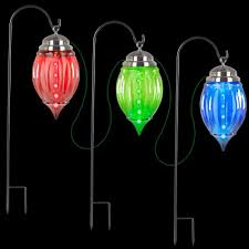 lightshow multi color shooting pathway ornament stakes set