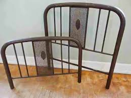 antique simmons iron bed frame headboard footboard rails