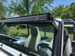 light bar jeep window frame bracket for 50