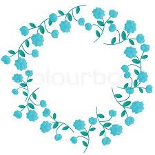 decorative blue floral wreath stock photo colourbox