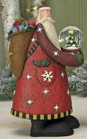 santa sheep figurine folk