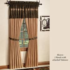 Western Window Valance Laredo Curtain Panel With Attached Valance