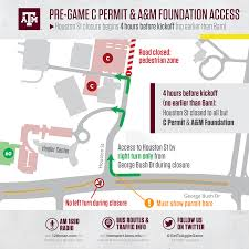 Traffic Map Houston Texas A U0026m Football Gameday 12thman Com