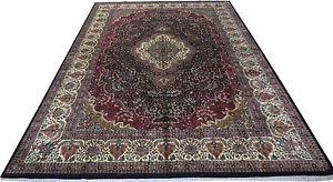 Indian Area Rug Rugs On Hardwood Floors Handmade 9 X 12 Silk Blend Kashmir Indian