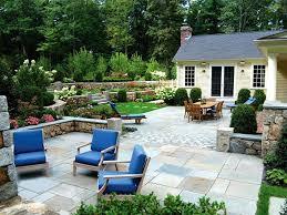 Design Your Own Backyard Concrete Backyard Garden With An Outdoor Living Area And Wooden