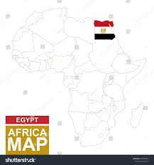 Egypt Africa Map by Africa Contoured Map Highlighted Egypt Egypt Stock Vector