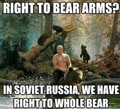 Vladimir Putin Memes - vladimir putin topless riding bear right to bear arms in