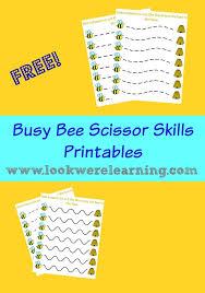 free busy bee scissor skills worksheets scissor skills scissors