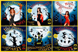 halloween party witch ghost bat moon vampire and other items