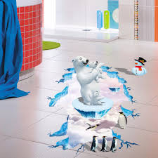 online get cheap penguin home aliexpress com alibaba group new creative removable cartoon polar bear penguin home decoration wall stickers living room floor wall decals
