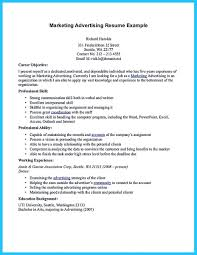 Resume For A Marketing Job by Contemporary Advertising Resume For New Job Seeker