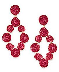 Red Chandelier Earrings Red Earrings Shop For And Buy Red Earrings Online Macy U0027s