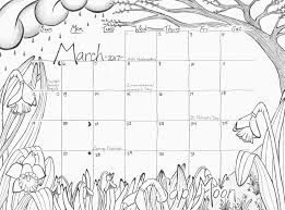 calendar coloring page march 2017 u201csap moon u201d u2013 studio inkcycle