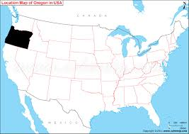 where is oregon state where is oregon located in the us map