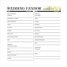 Vendor Information Sheet Template Sle Contact List Template 12 Free Documents In Pdf