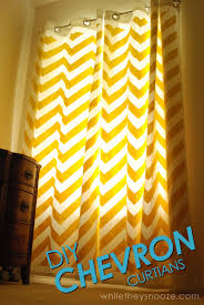 Yellow Curtains Ikea While They Snooze Diy Chevron Curtains Tutorial