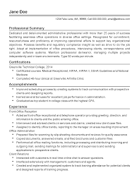 Resume Templates For Receptionist Professional Facilities Administrator Templates To Showcase Your