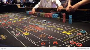 Crap Table For Sale Dice Rolling Across A Craps Table Stock Footage 3180505