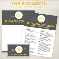 Business Card And Letterhead Resume Business Card And Letterhead Design Pack