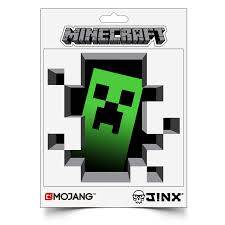 jinx minecraft creeper inside sticker