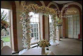 wedding flower arches uk wedding flowers arch hire the flower company