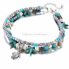 ankle bracelet from images 2018 boho anklets jewelry retro ankle bracelet starfish handmade jpg