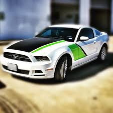 Black And Lime Green Mustang David Or Crystal Bigwormgraphix Instagram Photos And Videos