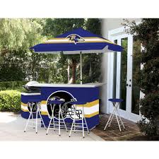 best of times baltimore ravens 6 piece all weather patio bar set