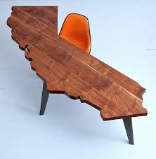california wood california shaped tables and desks by jared rusten