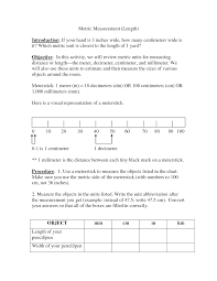 Converting Metric Units Of Length Worksheet 14 Best Images Of Metric Measurement Worksheets Converting